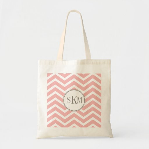 Chevron Monogram Personalized Tote Bag