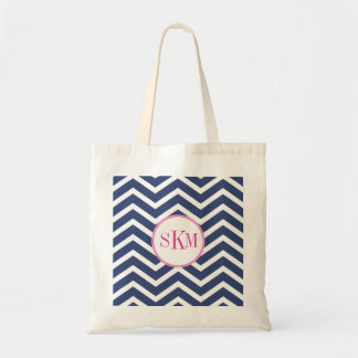 Chevron Monogram Personalized Tote Tote Bags