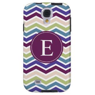 Chevron Monogram Purple Green Cream Galaxy S4 Case