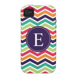 Chevron Monogram Purple Green Pink Orange iPhone 4/4S Cases