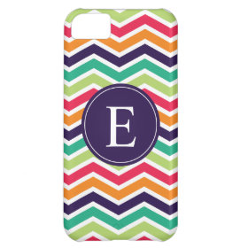 Chevron Monogram Purple Green Pink Orange iPhone 5C Covers