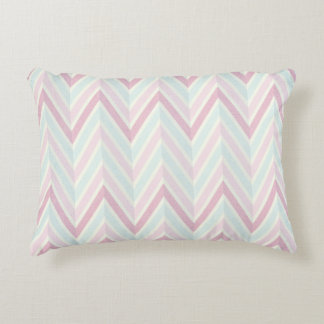 Chevron, multi, color, pastels, zig zag, girly accent pillow