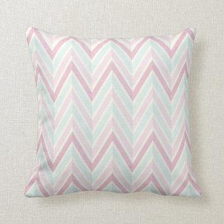 Chevron, multi, color, pastels, zig zag, girly throw pillows