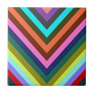 Chevron Multi Color Ceramic Tiles