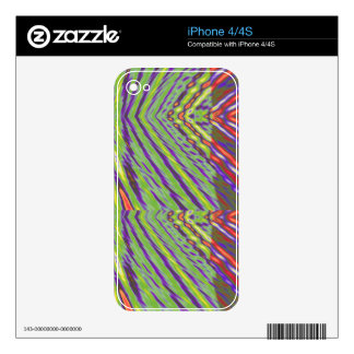 Chevron Multi Decal For iPhone 4