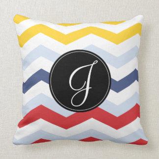 chevron multicolor.ai throw pillow