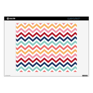 Chevron Multicolor Pink Turquoise Blue Red Coral Decals For Laptops
