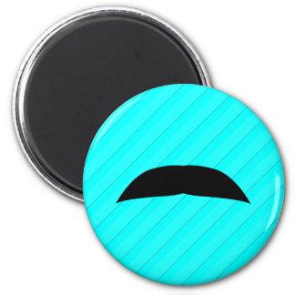 Chevron Mustache 2 Inch Round Magnet
