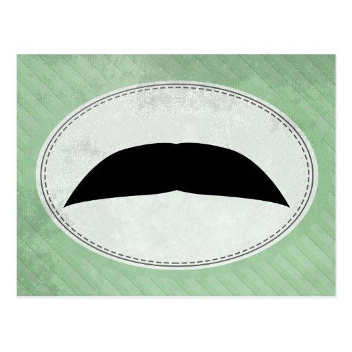 Chevron Mustache Postcard