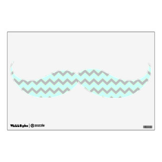 Chevron Mustache Shaped Wall Decal