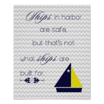 Chevron Nautical Inspirational Print