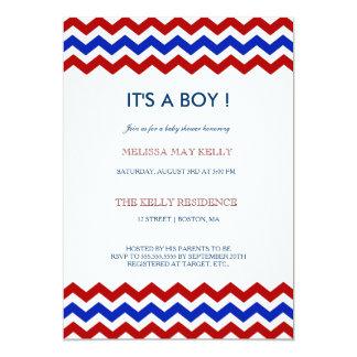 nautical chevron baby shower invitations announcements zazzle