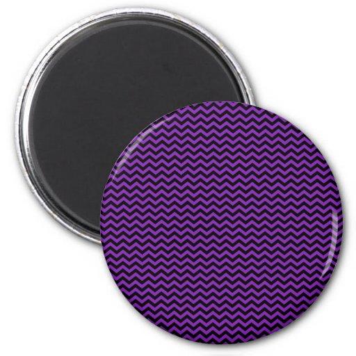 Chevron negro en púrpura imán para frigorifico