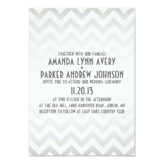 Chevron Ombre Modern Wedding Invitation