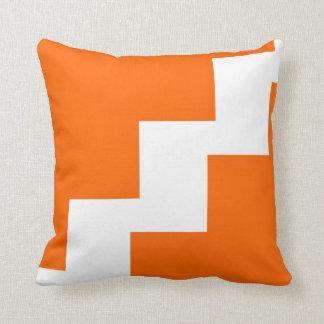 Chevron Orange and White Pillows