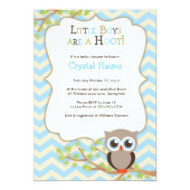 Owl baby shower invitations chevron owl themed baby shower invitations boy filmwisefo
