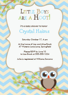 Owl baby shower invitations announcements zazzle chevron owl themed baby shower invitations boy filmwisefo Image collections