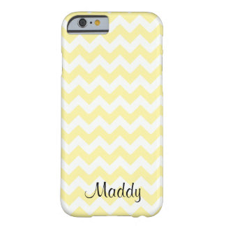 Chevron pale yellow custom personalized barely there iPhone 6 case