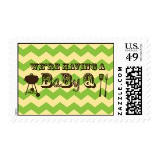 Chevron Pattern Baby Q  Stamps