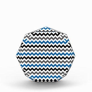 Chevron Pattern Background Blue Gray Black White Award