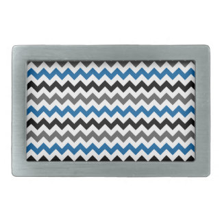 Chevron Pattern Background Blue Gray Black White Belt Buckle