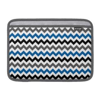 Chevron Pattern Background Blue Gray Black White MacBook Air Sleeve