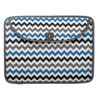 Chevron Pattern Background Blue Gray Black White MacBook Pro Sleeves