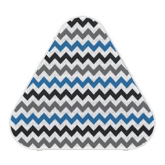 Chevron Pattern Background Blue Gray Black White Speaker