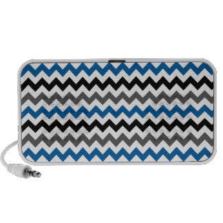 Chevron Pattern Background Blue Gray Black White Notebook Speakers