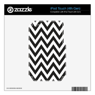 Chevron Pattern Black White Geometric Art Designs Decals For iPod Touch 4G