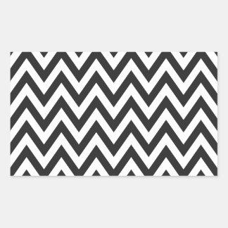 Chevron Pattern Black White Geometric Art Designs Rectangular Sticker