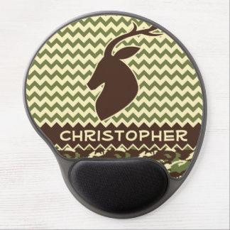 Chevron Pattern Buck Camouflage Monogram Gel Mousepads