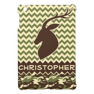 Chevron Pattern Buck Camouflage Monogram iPad Mini Cases