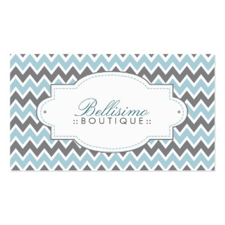 Chevron Pattern Business Card (blue/grey)