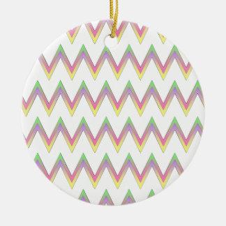 Chevron pattern ceramic ornament
