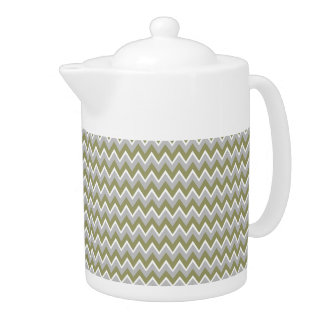 Chevron Pattern custom teapot