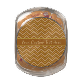 Chevron Pattern custom tins & jars Glass Jar