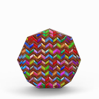 Chevron Pattern Digital Art Faux Leather Award