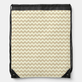 Chevron Pattern Drawstring Backpack