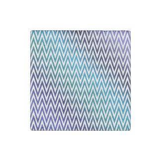 Chevron pattern stone magnet