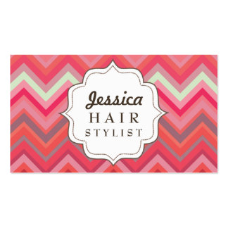 Chevron Pattern Hair Stylist Appointment Cards