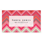 Chevron Pattern Hair Stylist Fashion Template Business Cards