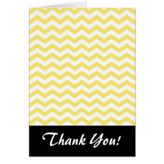 Chevron Pattern in Lemon Yellow and White Card