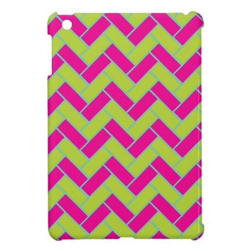 chevron  pattern iPad mini case