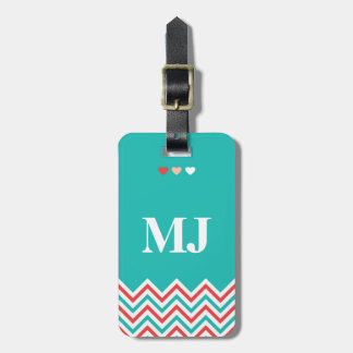 Chevron Pattern Luggage Tag with Funny Quotes