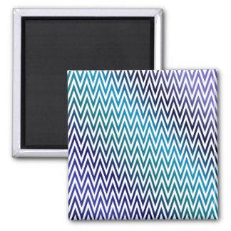 Chevron pattern 2 inch square magnet