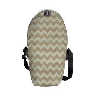 Chevron Pattern Messenger Bag