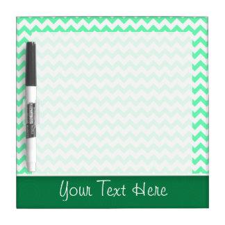 Chevron Pattern; Mint Green Dry Erase Board