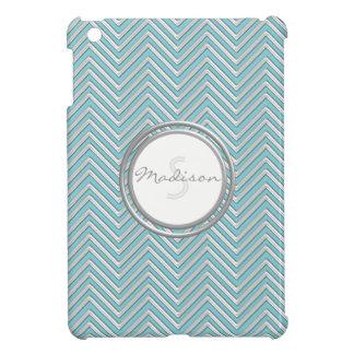 Chevron Pattern Modern Stripe Zig Zag Gel Look iPad Mini Cover