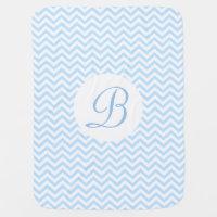 Chevron Pattern Monogram Baby Blanket